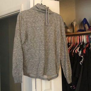 Grey high neck sweatshirt